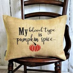 My blood type is pumpkin spice lumbar Burlap Pillow – Kelley's Collection Burlap Fabric, Burlap Pillows, Bed Pillows, Black Envelopes, Small Pumpkins, Fall Pillows, Burnt Orange, Orange Brown, Natural Tan