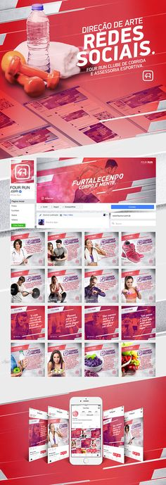 Redes Sociais Four Run