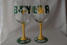 Hey, I found this really awesome Etsy listing at https://www.etsy.com/listing/260604786/baylor-university-hand-painted-wine