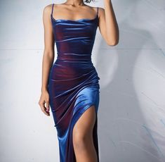 SOLD Vintage Iridescent Velvet Full Length Dress (Size S) Please click the link in the bio to shop! Cute Prom Dresses, Prom Outfits, Mode Outfits, Ball Dresses, Elegant Dresses, Pretty Dresses, Beautiful Dresses, Long Dresses, Casual Dresses