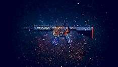 Download M4A4 Rifle Dragon King Counter Strike Global Offensive Weapon Skin 1920x1200