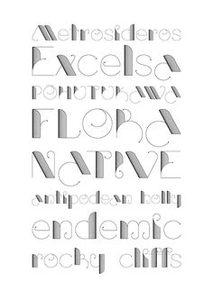 A 2012 font by Haylie Gray.