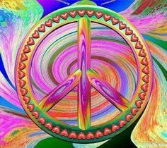 Hippie Peace Sign Art....