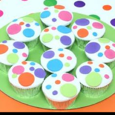Colorful cupcakes <3