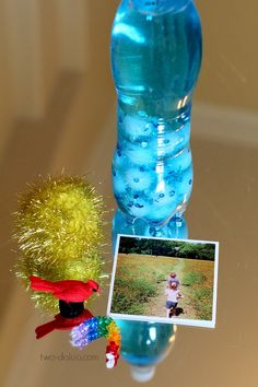 Day sky bottle and sorting objects