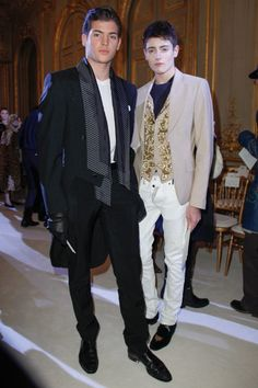 SPRING 2013 COUTURE Giambattista Valli Front Row Peter Brant, Jr. and Harry Brant.