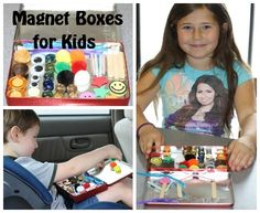 Cheap & Easy Magnet Boxes- great travel entertainment!