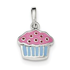 Lex /& Lu Sterling Silver Enameled Piece of Candy in Wrapper Clasp Charm