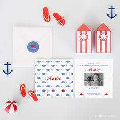 Faire-part de naissance mixte petit poisson en bord de mer MARIN #birth #announcement #garçon #boy #bleu #rouge #créatif #fairepartoriginal #fairepartrigolo #fairepartelegant #fairepartdifferent #fairepartpoisson #fairepartmer #fairepartpoetique #faireparttendance #fairepartcreatif #jolifairepart #fairepartlille #papeteriedenaissance #fairepartmasculin