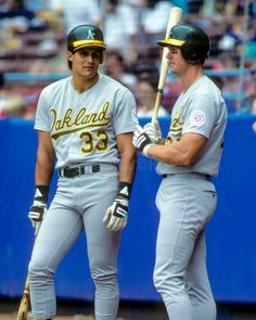 Jose Canseco, Mark McGwire, 1987