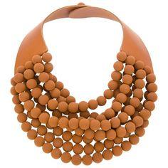 ROSSANA FANI 'Isabella' handmade beaded necklace (£111) found on Polyvore