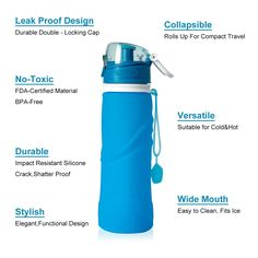 U-pick Collapsible Silicone Water Bottles