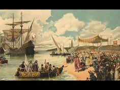 Arrival of Vasco da Gama in Calecute, India, in In the background is Nau Sao Gabriel, da Gama's Flagship. Cochin, Portuguese Empire, France Culture, Dutch East Indies, Day Book, World History, European History, Ancient History, Golden Age