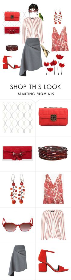 """Cotorra"" by mfpblau ❤ liked on Polyvore featuring Brewster Home Fashions, Chicnova Fashion, Gucci, NOVICA, J.Crew, Christian Dior, Pedro del Hierro, DKNY and Alexander Wang"