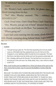 Harry Potter feels:( I'm not gonna be able to read that part in the same way again ='(