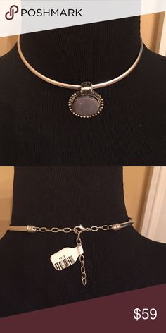 """NWT Free People silver gemstone choker Approx 13"""" and 3"""" extender. Brand new with tags! Retails for $98! Ships same or next day! Rare! Free People Jewelry Necklaces"""