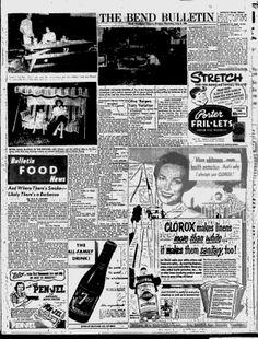 The Bulletin - 1954; pg 10; Back Yard Picnic; Barbecue Sauce; Slumgullion; Basting & Marinade Sauce; Tomato Wine Sauce; Olive Burgers; Cake Sandwich; Sausage Apple Kebab; Roka burgers; Orange Apricot Porcupines; Appetizers; Oatmeal Crispies; Fruit Nut Cookies; Pine burgers; Upside Down Ham Loaf; Beef Foil Dinner; Peach Jam; Strawberry Cream Pie; Glazed Boysenberry Pie; French Toast; Pickle Potato Salad; Coffee Chiffon Pie; Jellied Apple Blush Pie;