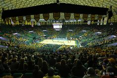 Turns out #Baylor's Ferrell Center can really pull off stripes. #StripeFerrell