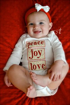 Peace.Joy.Love Baby's First Christmas