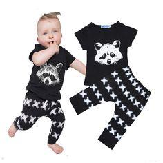 Bobo choses Baby clothing set Ailurus fulgens T-shirt + pant baby boy clothing sets baby girl clothes ropa bebe infantil nino