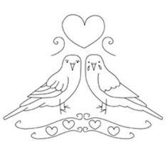 Vintage Birds Redwork Design :)
