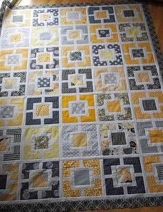 This quilt design is very crisp and pretty