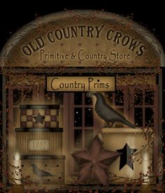 Old Country Crows,Country Primitive Decor,Scented Fixins,Twig Berry Wreaths,Country Crafts,Primitives,Country Home Decor,Country Primitives,Crow Decor
