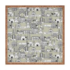 Sharon Turner Los Angeles Linen Square Tray | DENY Designs Home Accessories #LA #DENYholiday #deny #toile #tray #sharonturner #sale #christmas