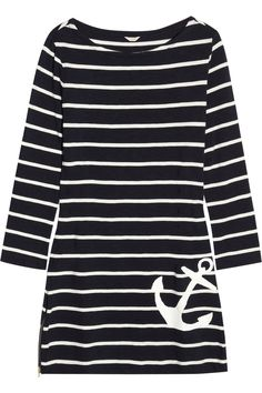 J.Crew | Maritime striped cotton-jersey dress | NET-A-PORTER.COM