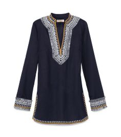 The Tory Tunic: One of our most iconic styles, it injects global-inspired glamour into any wardrobe