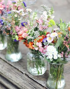"THE OLD WAY: Store-Bought Bouquet THE NEW WAY: Imperfectly Perfect Backyard Blooms - Step away from the grocery-store arrangements (too matchy-matchy) and instead go outside (or send the kids) to gather up a hodgepodge of wildflowers, grasses and herbs from the garden. You'll be surprised how pretty ""undone"" arrangements can look."