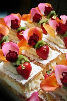 Fruit Napoleon for an excellent tea party!