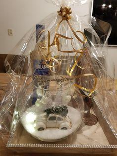 Christmas decoration snow glitter bottle glasses sneeuw fles decoratie kerst