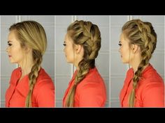 How to Braid - For Beginners. Basic braid, French braid and a Dutch braid