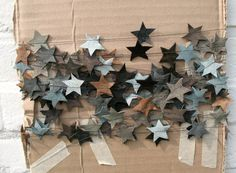 leather star garland