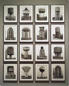 Bernd y Hilla Becher dos fotógrafos alemanes (Bernd Becher nació en Siegen el 20 de agosto de 1931, y falleció en 2007, Hilla Wobeser nació en Potsdam en 1934) conocidos por sus series de imágenes de edificios industriales examinando similitudes y diferencias en estructura y apariencia.
