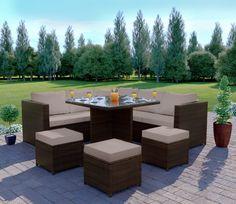 25 Ideas garden furniture colours cushions - My Home Decor Grey Rattan Garden Furniture, Dining Furniture Sets, Living Room Decor Furniture, Loft Furniture, Deco Furniture, Colorful Furniture, Outdoor Furniture Sets, Corner Dining Set, Corner Sofa Set