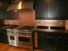 hammered copper backsplash - for the kitchen i have, rather than