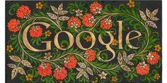 """Дудл для Google: """"Мой город. Моя страна. 30 лучших работ юных художников на тему """"Мой город. Нелаева Анастасия, г. Оленегорск, Рисунок по мотивам хохломской росписи."""