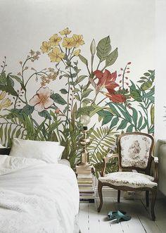 Blooming Flowers Wallpaper Decal | Etsy