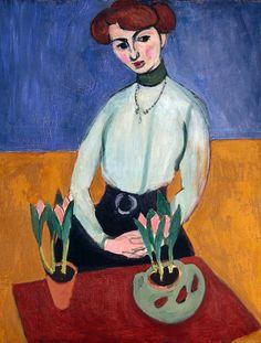 Girl with Tulips, 1910 Henri Matisse