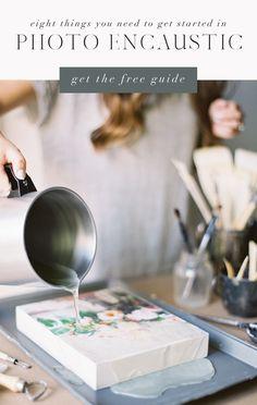 Course — Kayla Barker Fine Art Prints and Photo Encaustic Art Wax Art, Encaustic Painting, Abstract Canvas Art, Whimsical Art, Portrait Art, Art Techniques, Art Tutorials, Decoration, Lino Prints