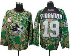 San Jose Sharks #19 Joe Thornton 2014 Camo Jersey