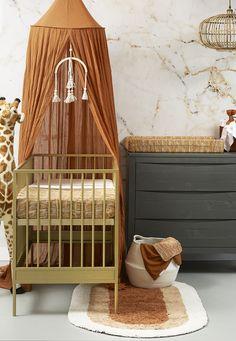 Meyco block mixed deken in camel/okergeel vanaf Baby Bedroom, Baby Room Decor, Nursery Room, Deco Orange, Cool Kids Bedrooms, Baby Room Design, Nursery Neutral, Brown Nursery, Orange Nursery