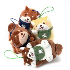 Dogs usually love the company of another canine, and Chuken Mochi Shiba pups are no different! These plushies depict them in playful poses that make it look like they are playing together when you pair them up. Display them paw to paw, with one pawing the other's head, or even with one pawing the other's belly! Makes a cute gift for dog-loving best friends! #tokyootakumode #plushie