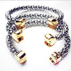 Bracelets By Vila Veloni Mix Metals Gold and Silver