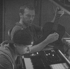 Chris Martin with Avicii