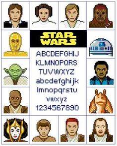 Star Wars Heroes Sampler Cross Stitch Pattern on eBay!