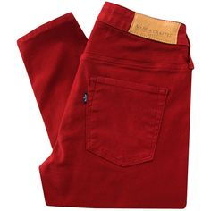 Levi's Made & Crafted Empire High 0114-0001 Skinny Jester Red Jeans (€82) ❤ liked on Polyvore featuring jeans, pants, bottoms, pantalones, skinny fit denim jeans, super high-waisted skinny jeans, zipper jeans, super high rise skinny jeans and red skinny jeans