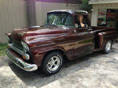 """Dne with our 1959 Chevy Apache - Enjoying the """"ride""""!"""